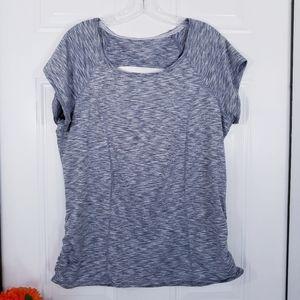 Calvin Klein Gray Performance Short Sleeve Shirt